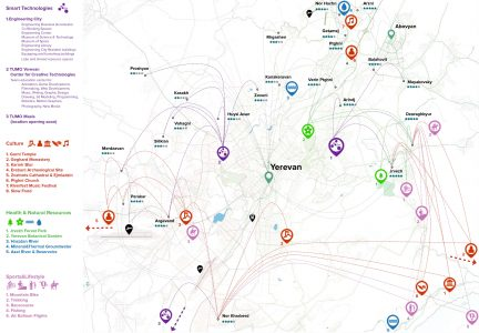Yerevan and its Commuter Towns. Points of Interest
